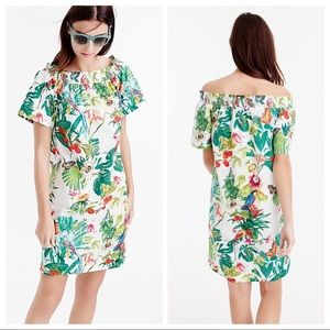 J Crew Off Shoulder Dress Ratti Into Wild Print